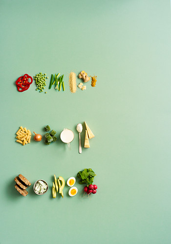 Ingredients for a quick stir-fry, a pasta dish and supper