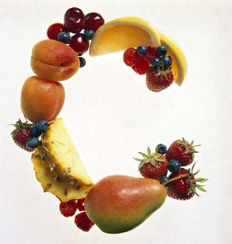 Fruit Forming the Letter C