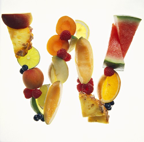 Fruit Forming the Letter W