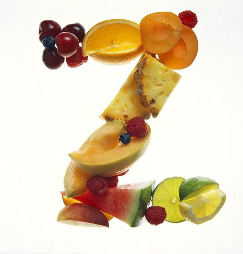 Fruit Forming the Letter Z