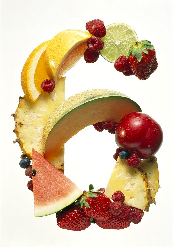 Fruit Forming the Number 6