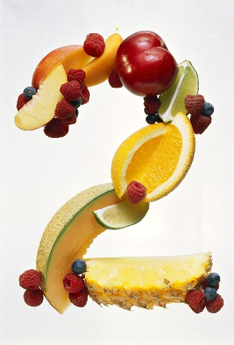 Fruit Forming the Number 2