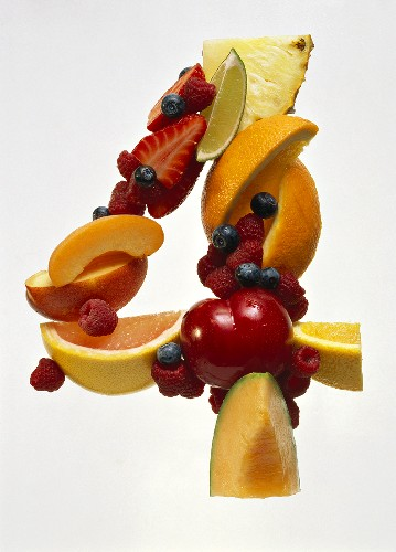 Fruit Forming the Number 4