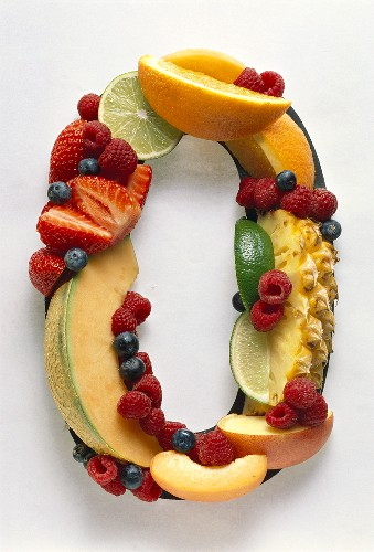 Fruit Forming the Number 0