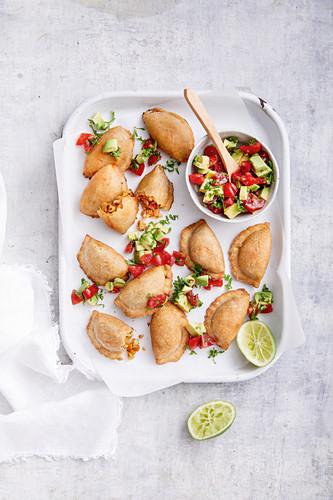 Inspired Empanadas - Mediterranean chicken, cheese, capsicum and paprika, Sweet potato and cashew