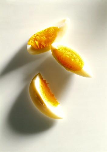 Three egg quarters