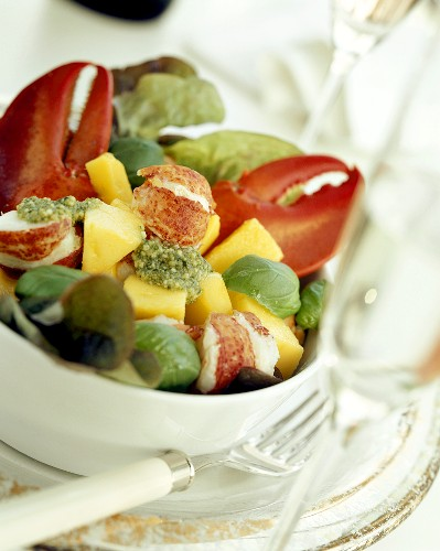Lobster Salad with Mangoes