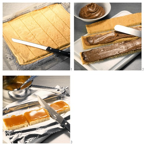 Making Viennese Dobos slices