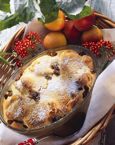 Kipferlkoch: Austrian croissant pudding with raisins