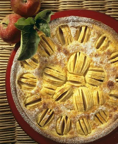 Alsatian apple cake