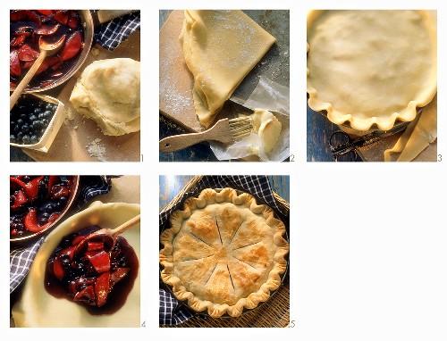Making a fruit pie