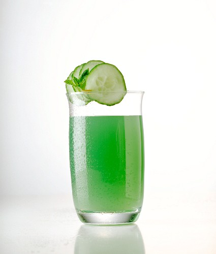 Fitness drink with cucumber