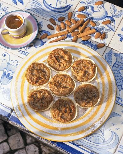 Cinnamon and almond tartlets