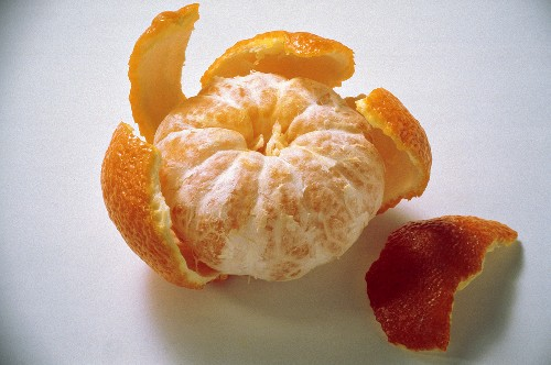 A Partially Peeled Clementine