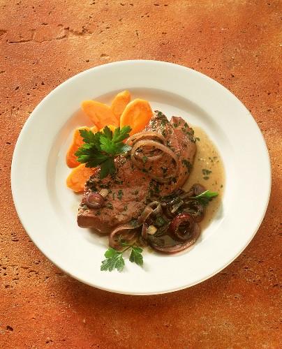 Fegato alla veneziana (sweet and sour calf's liver)