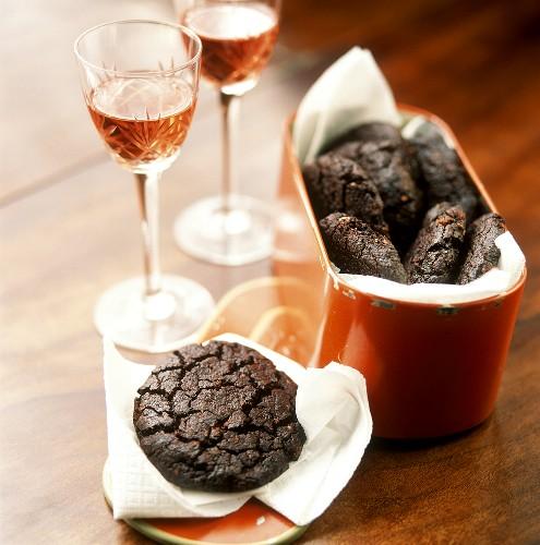 Mostaccioli (chocolate biscuits), Basilicata Italy