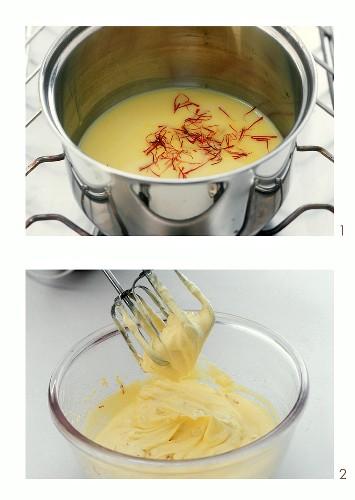 Making saffron cream