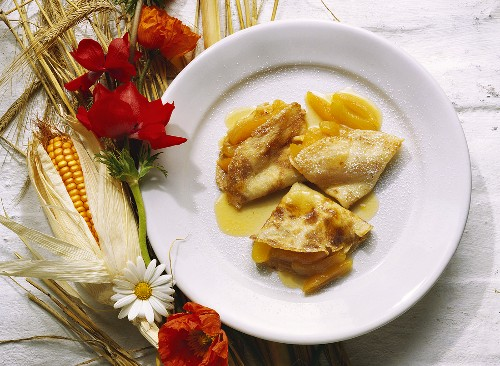 Crepes with Apricots