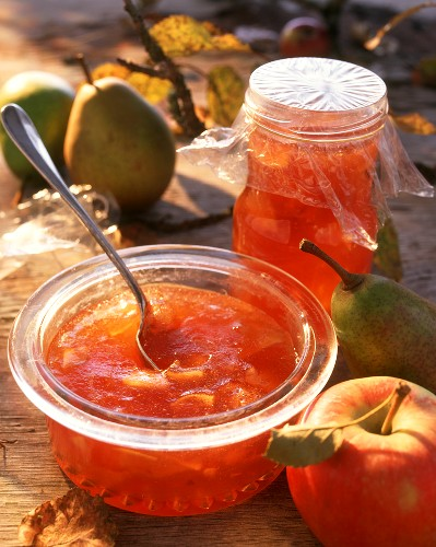 Apple and pear jelly