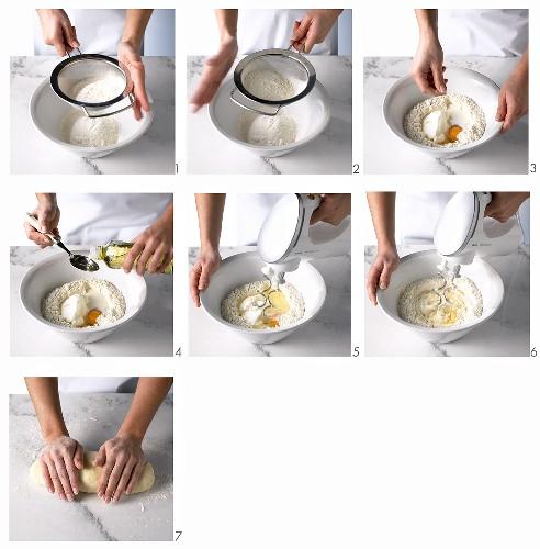 Making quark oil pastry
