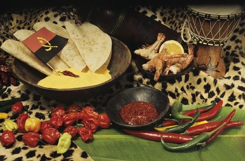 Camarao Grelhado com Molho Cru (shrimp dish from Angola)
