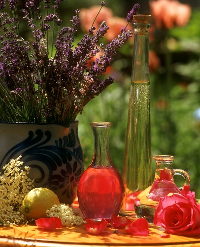 Rose and witch-hazel tonic lotion with lavender