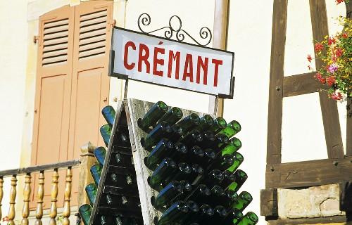 Crémant-Schild in Ribeauvillé, Elsass, Frankreich