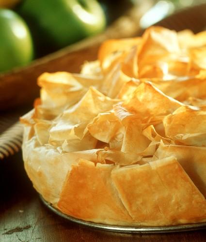 Croustade aux pommes (Apfelblätterteig, Frankreich)