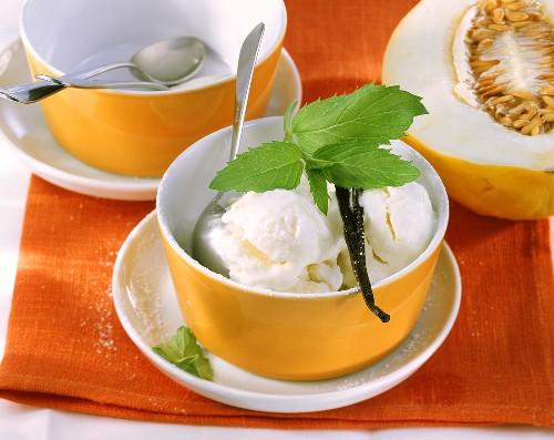 Melon quark ice cream