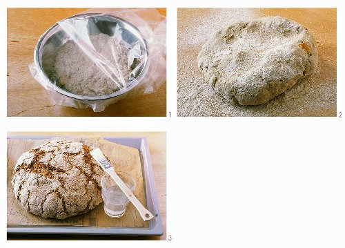 Making coarse rye bread