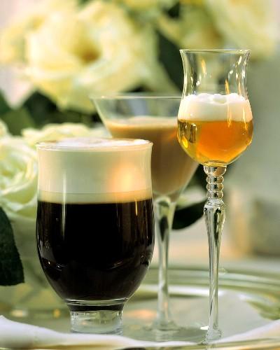 Coffee drinks: Zieglers coffee, mocha flip, amaretto caldo