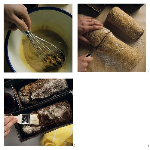 Making Finnish malt bread