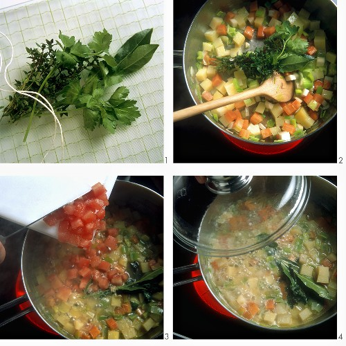 Making bouillon potatoes