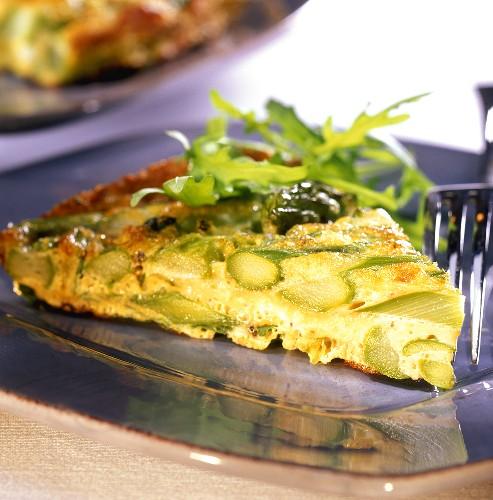 Frittata agli asparagi (asparagus omelette), Tuscany, Italy