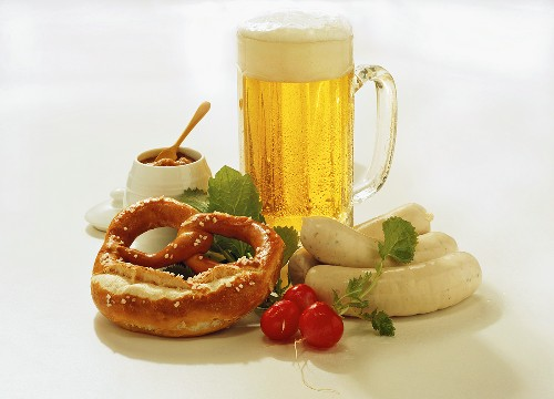 Still Life with White Sausages and Beer