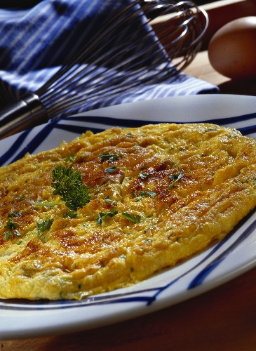Omelette with parsley
