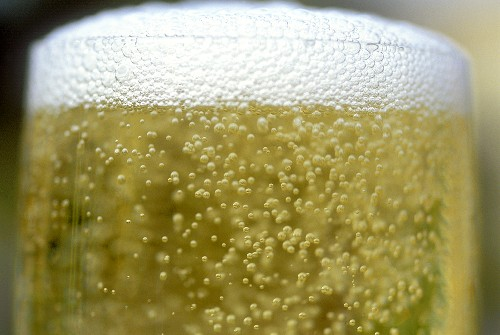 Champagne glass (detail)