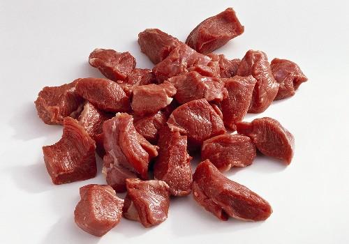 Lammfleisch, in Würfel geschnitten