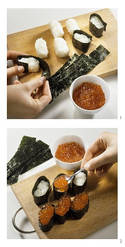 Making gunkan-maki