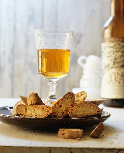 Biscotti con il Vin Santo (Almond biscuits with dessert wine)