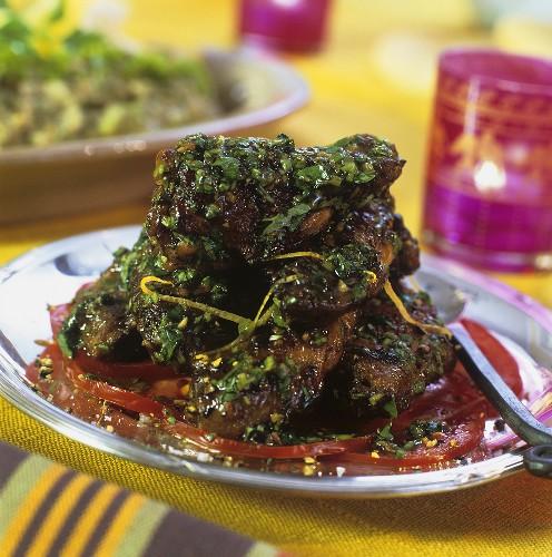 Jawaneh (Fried chicken wings, Lebanon)