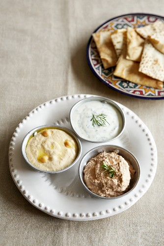 Assorted dips from North Africa
