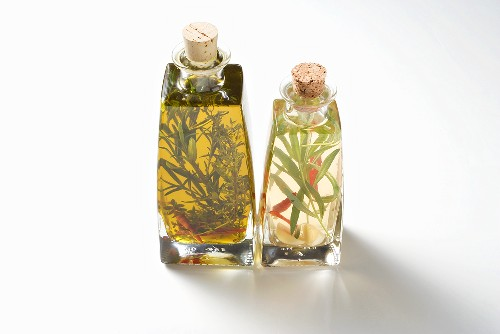 Herb oil and herb vinegar, home-made