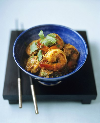 Indonesian hot and sour prawns