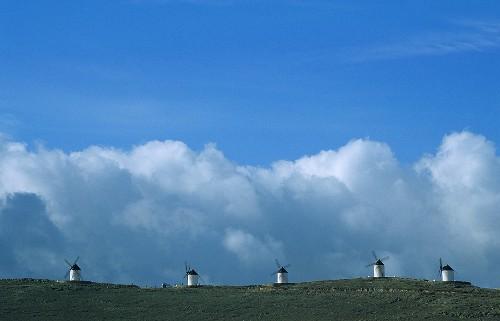 Windmills above Consuegra, Castile-La Mancha, Spain