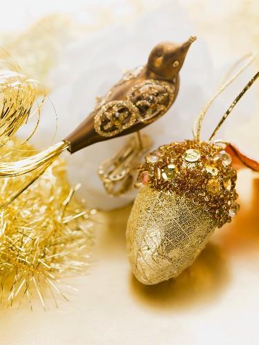 Gold Christmas tree ornaments
