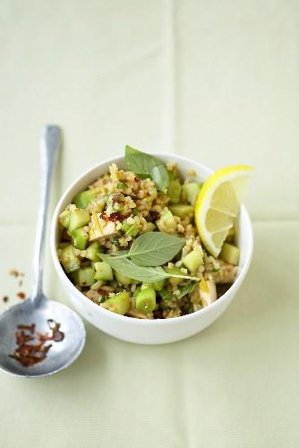 Asian tabbouleh with tofu