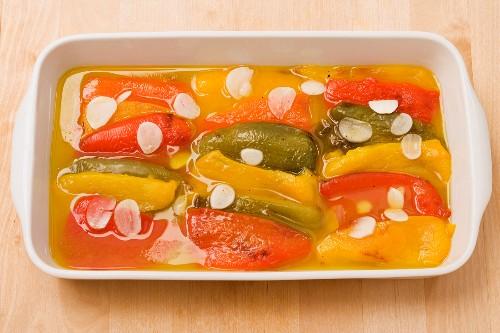 Peperoni all'olio (In Öl eingelegte Paprikaschoten, Italien)