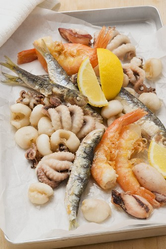 Fritto misto (deep-fried seafood, Italy)
