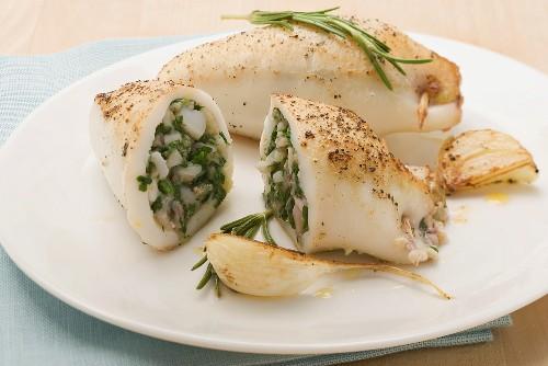 Calamari ripieni (suffed squid, Italy)